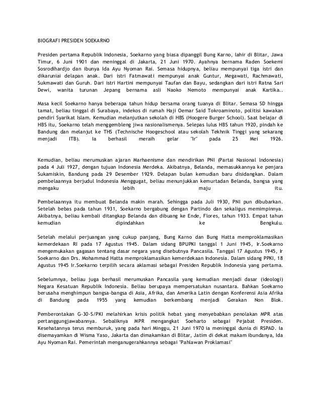 Biografi Presiden Ir Soekarno