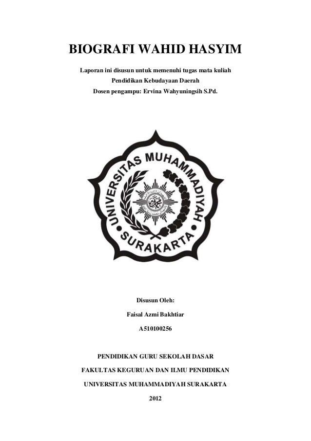 Biografi Wahid Hasyim