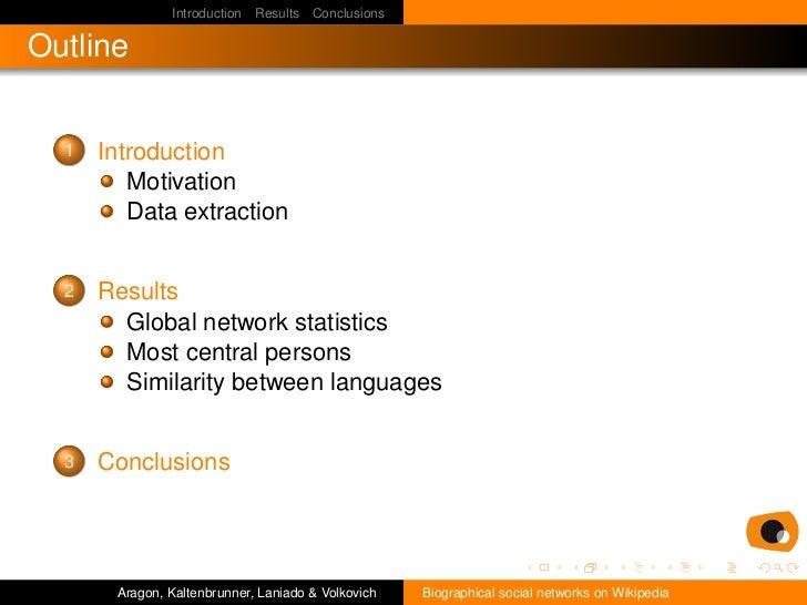 Biographical social networks on Wikipedia Slide 2