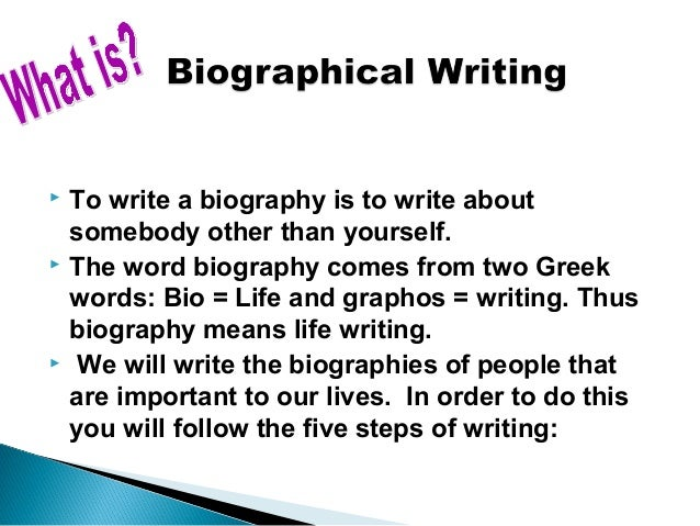 How to write biography essay