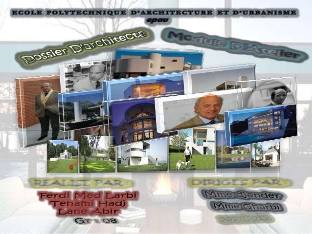 L'architecture est l'art de la création et de bâtir , Elle a évoluée dans l'histoire , à travers divers mouvements , parmi...