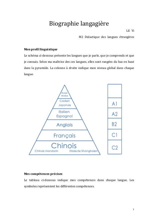 1   Biographie  langagière   LE   Yi   M2   Didactique   des   langues   étrangères      Mon  pr...