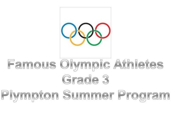 Famous Olympians