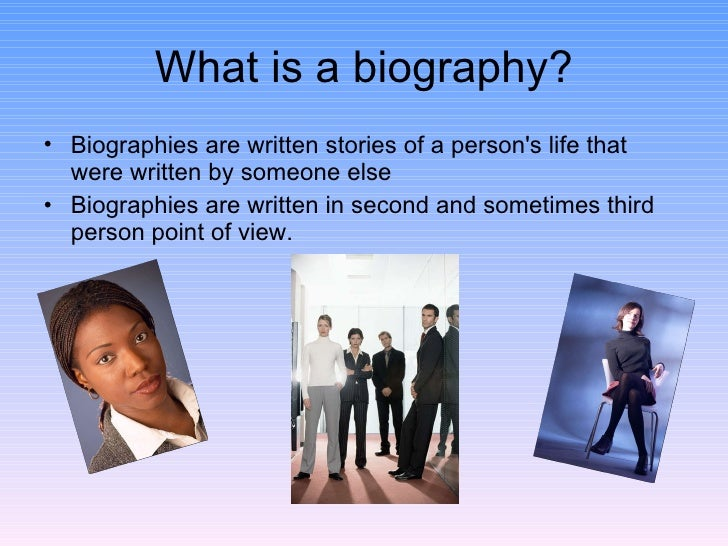 Biography of someone