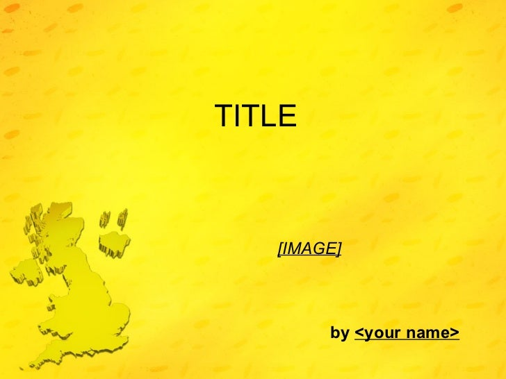 TITLE [IMAGE]     by  <your name>