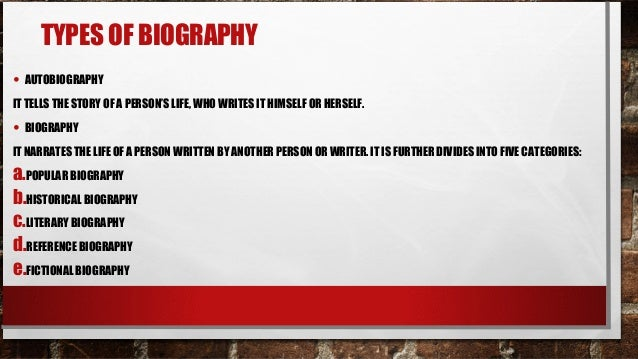 kinds of biography
