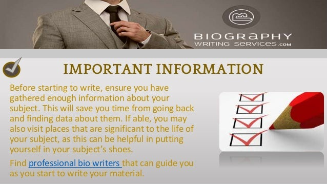 What are biography writing services
