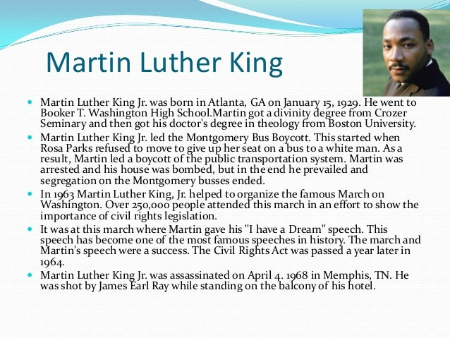 An essay on martin luther king jr