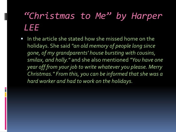 comparing the works of harper lee essay Write an essay comparing contrasting the seasons  harper lee wrote two novels in which atticus finch is the main character he is decidedly different in each book  compare & contrast essay.