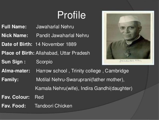 biography of pt jawaharlal nehru
