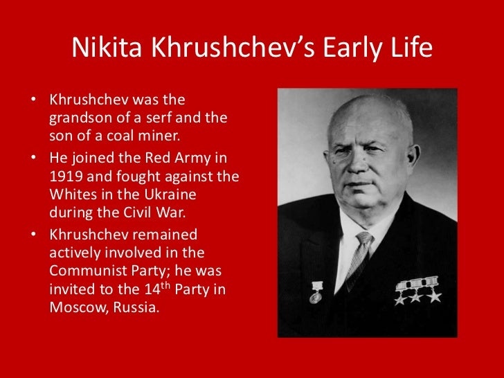 Biography Of Nikita Khrushchev