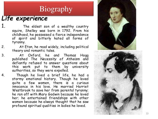 pb shelley biography summary page