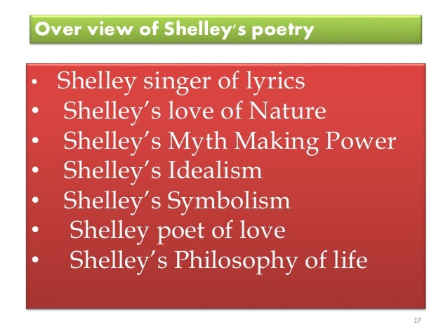 Shelley S Treatment Of Nature