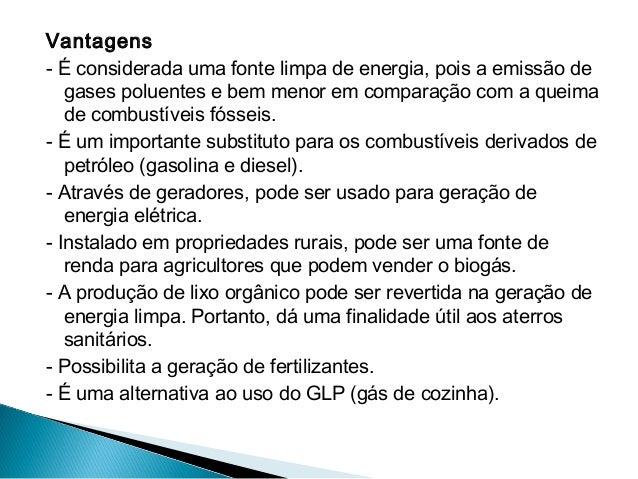 Biogás e biodisel