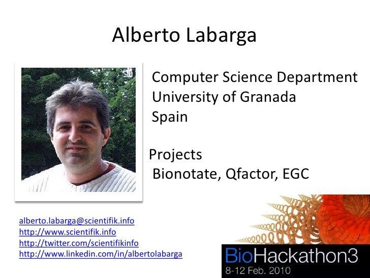 Alberto Labarga                                  Computer Science Department                                  University o...