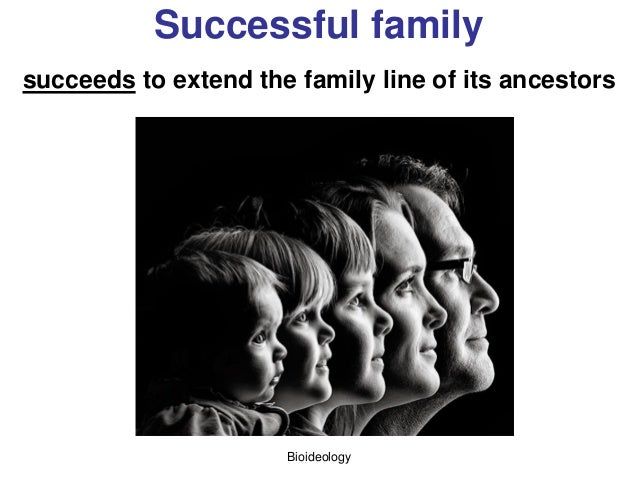 Bioideology Successful family succeeds to extend the family line of its ancestors