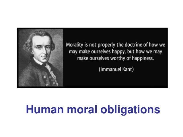 Human moral obligations