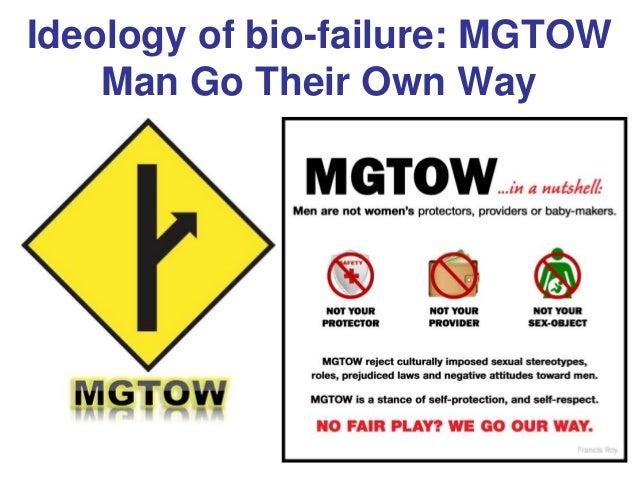 Ideology of bio-failure: MGTOW Man Go Their Own Way