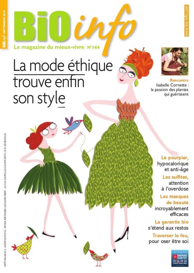 Le magazine du mieux-vivre N°144 SEPTEMBRE2014DÉPÔTBRUXELLESX-AGRÉATIONP207152-ÉDITEURRESPONSABLE:ALEXANDREIMBERT–30,CLOSC...