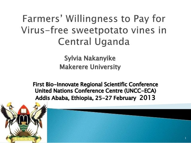 Sylvia Nakanyike          Makerere UniversityFirst Bio-Innovate Regional Scientific Conference United Nations Conference C...