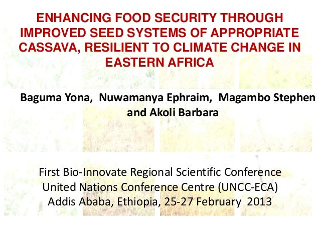 ENHANCING FOOD SECURITY THROUGHIMPROVED SEED SYSTEMS OF APPROPRIATECASSAVA, RESILIENT TO CLIMATE CHANGE IN           EASTE...