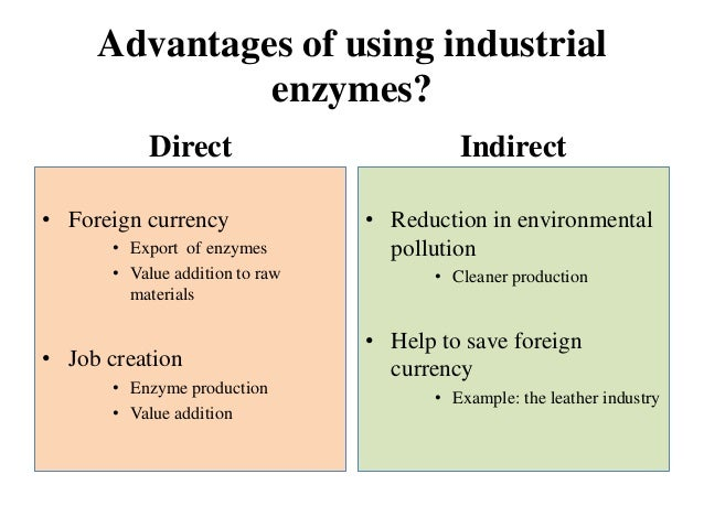 the types of enzymes and their use in the industry Enzymes in textile industry by enzymes technical what types of enzymes are bread and yogurt also owe their flavor and texture to a range of enzyme.