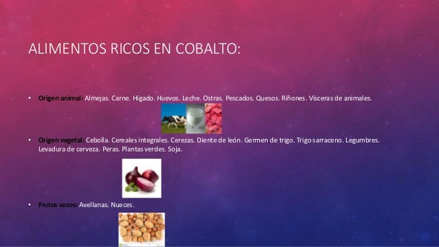 Bioinorganica de cobalto - Alimentos con levadura de cerveza ...