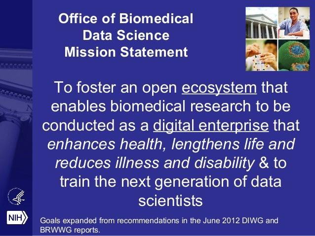 The Vision for Data @ the NIH Slide 2