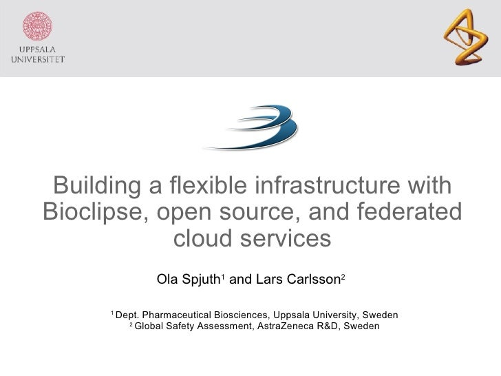 Building a flexible infrastructure with Bioclipse, open source, and federated cloud services 1  Dept. Pharmaceutical Biosc...