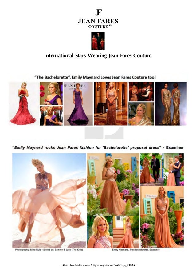 International Stars Wearing Jean Fares Couture Celebrities Love Jean Fares Couture! : http://www.youtube.com/watch?v=gy-_5...