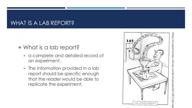 Chemistry lab report buy Lab Report Format