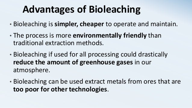 advantages of bioleaching