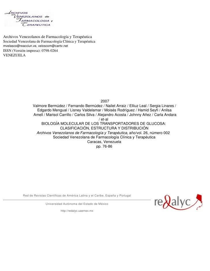 Biol mol de transp de gluc