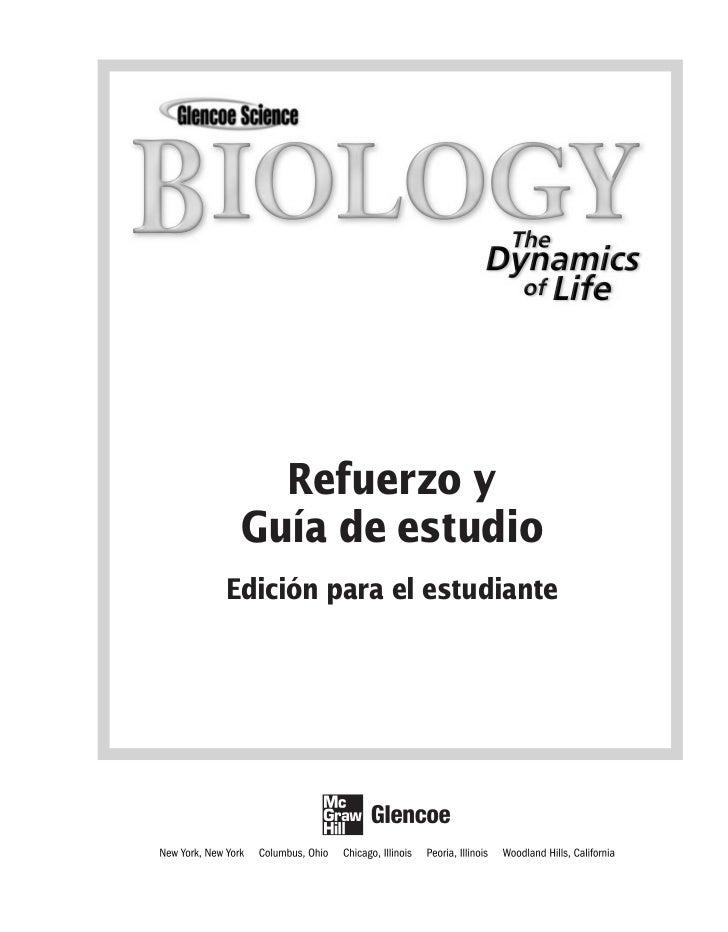 Biología la dinámica de la vida guía de estudio