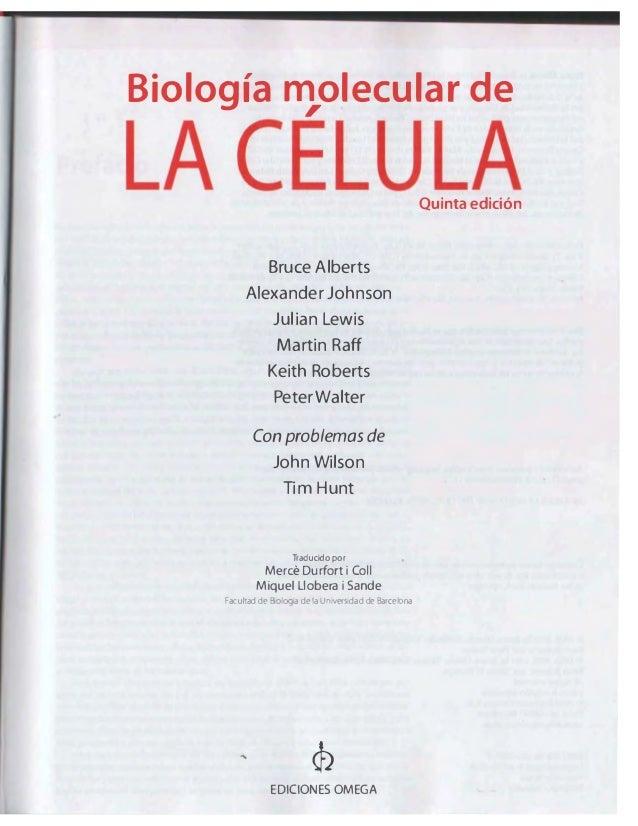 Biologia Molecular De La Celula 5ª Edicion Alberts Espanol