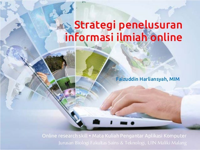 Strategi penelusuran          informasi ilmiah online                                  Faizuddin Harliansyah, MIMOnline re...