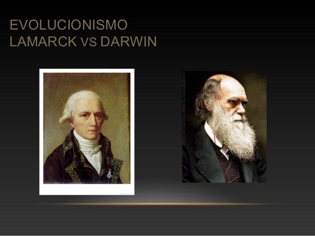 EVOLUCIONISMO  LAMARCK VS DARWIN