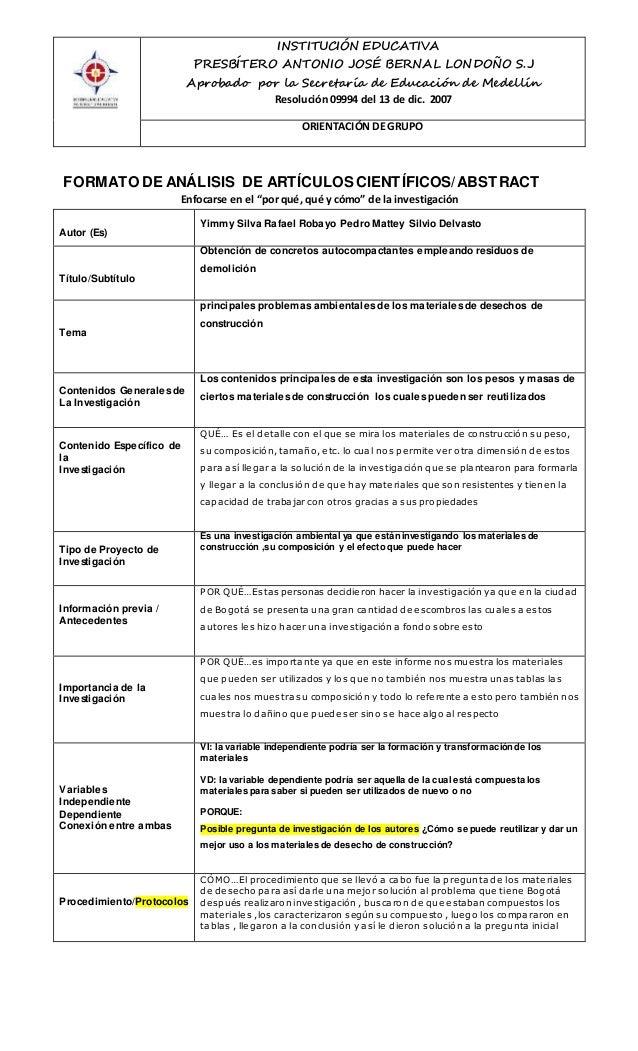 INSTITUCIÓN EDUCATIVA  PRESBÍTERO ANTONIO JOSÉ BERNAL LONDOÑO S.J  Aprobado por la Secretaría de Educación de Medellín  Re...