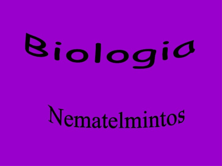 Biologia Nematelmintos