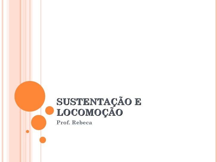 SUSTENTAÇÃO E LOCOMOÇÃO Prof. Rebeca