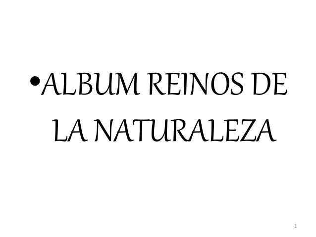 •ALBUM REINOS DE LA NATURALEZA 1
