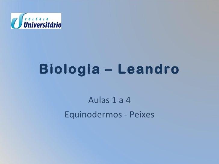 Biologia – Leandro Aulas 1 a 4 Equinodermos - Peixes