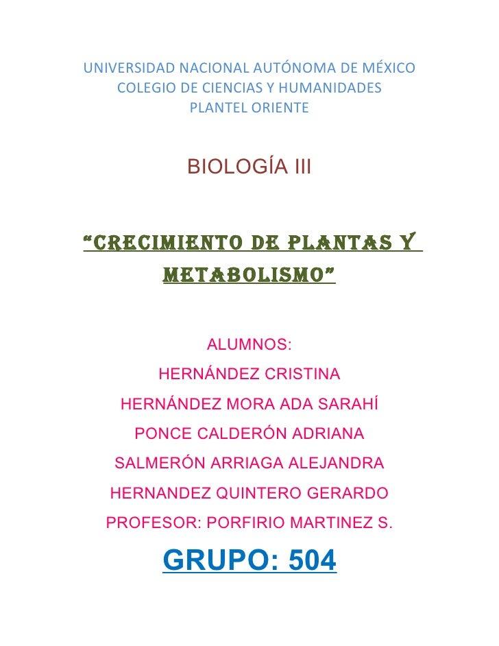 UNIVERSIDAD NACIONAL AUTÓNOMA DE MÉXICO     COLEGIO DE CIENCIAS Y HUMANIDADES              PLANTEL ORIENTE               B...
