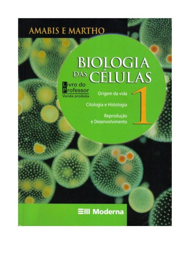 Biologia das células volume 1 (amabis e martho)