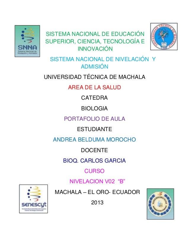 SISTEMA NACIONAL DE EDUCACIÓN SUPERIOR, CIENCIA, TECNOLOGÍA E INNOVACIÓN SISTEMA NACIONAL DE NIVELACIÓN Y ADMISIÓN UNIVERS...