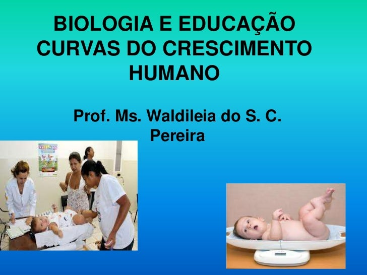 BIOLOGIA E EDUCAÇÃOCURVAS DO CRESCIMENTO       HUMANO  Prof. Ms. Waldileia do S. C.            Pereira