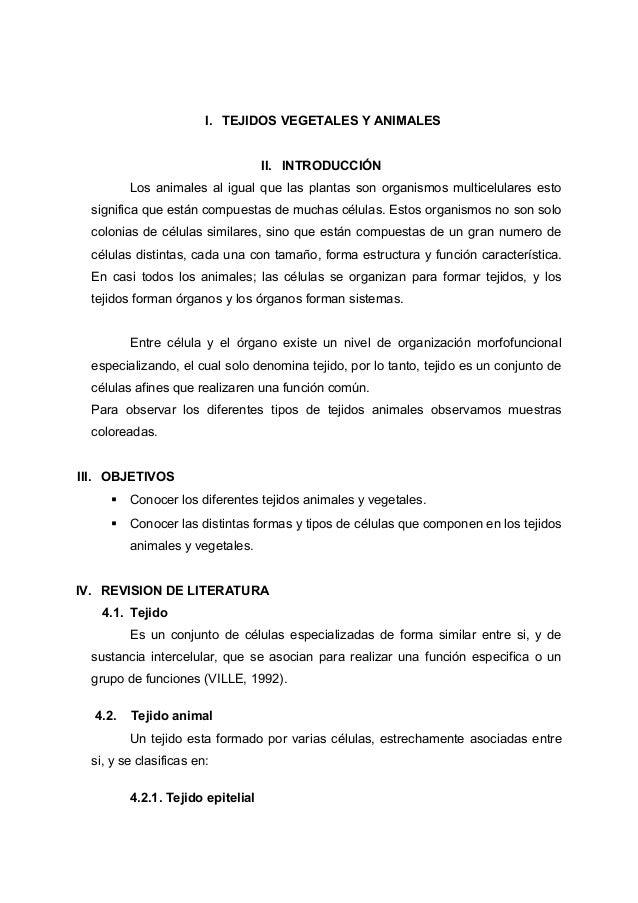 Biologia General Tejidos Vegetales Y Animales