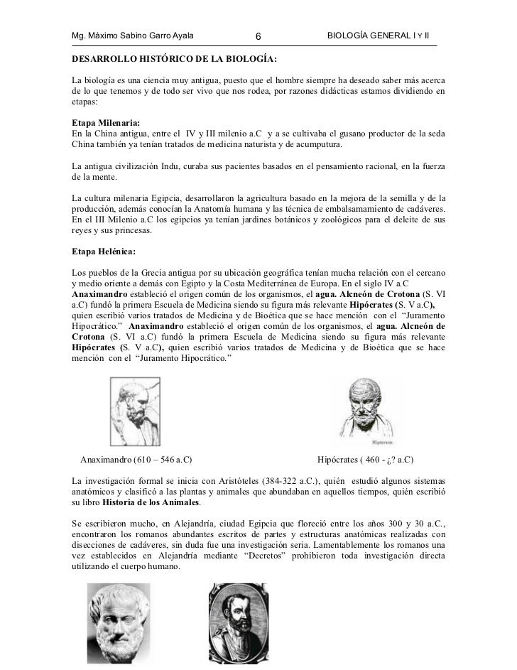 Biologia General I Y II