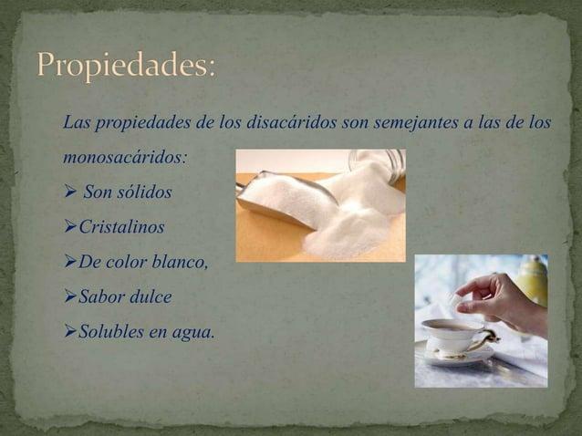 Principales disacáridos: Los principales disacáridos de interés biológico son los siguientes: Maltosa: Unión de dos glucos...