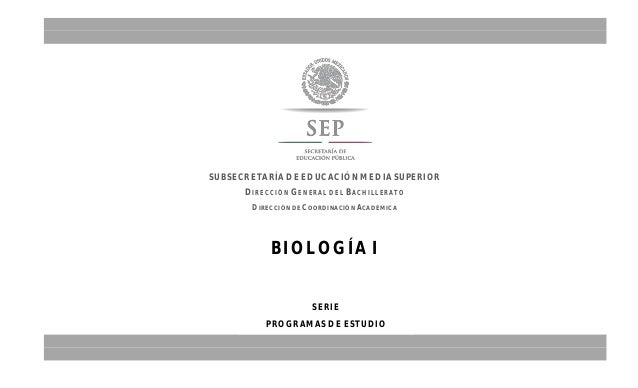 Biologia I semestre 2014